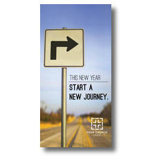 New Year Right Turn XLarge Postcard