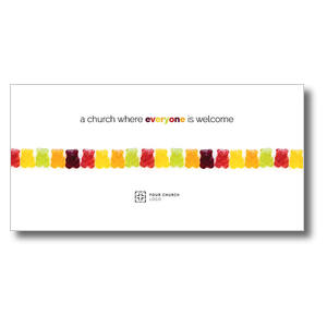 Gummi Bear Welcome XLarge Postcards