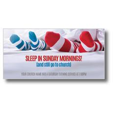 Sleep In Socks XLarge Postcard
