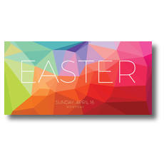 Bright Geometric Easter XLarge Postcard