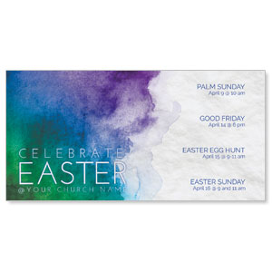 Celebrate Watercolor Easter XLarge Postcards
