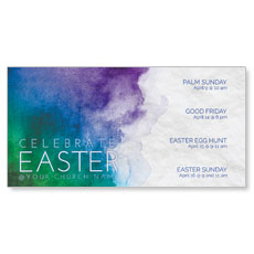 Celebrate Watercolor Easter XLarge Postcard