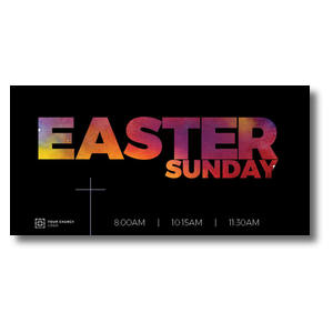 Easter Black and Bright XLarge Postcards