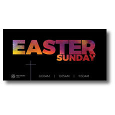 Easter Black and Bright XLarge Postcard