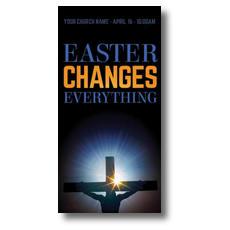 Easter Changes Cross XLarge Postcard