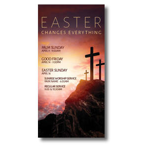 Easter Crosses Hilltop XLarge Postcards
