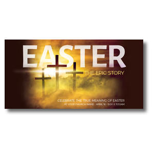Easter Epic Story XLarge Postcards
