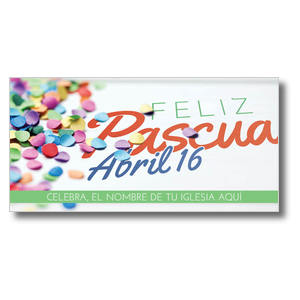 Feliz Pascua Confetti Church Postcards