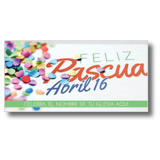 Feliz Pascua Confetti XLarge Postcard