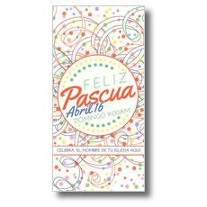 Feliz Pascua Ribbons XLarge Postcard