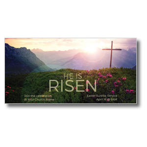 "He Is Risen Mountain 11"" x 5.5"" Oversized Postcards"