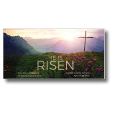 He Is Risen Mountain XLarge Postcard
