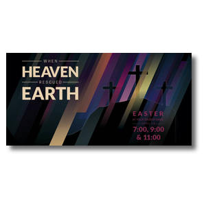 "Heaven Rescued Earth 11"" x 5.5"" Oversized Postcards"