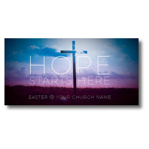Hope Starts Here XLarge Postcards