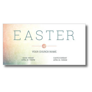 Pastel Easter At Church Postcards