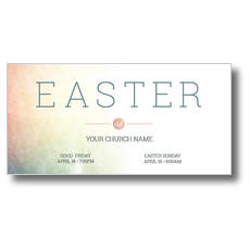 Pastel Easter At XLarge Postcard
