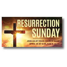 Resurrection Sunday Cross XLarge Postcard