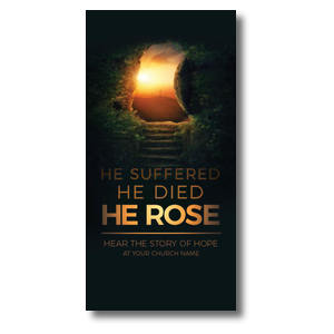 "Suffered Died Rose 11"" x 5.5"" Oversized Postcards"