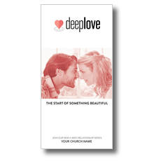 Deep Love Couple Church Postcard