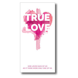 True Love Watercolor Church Postcards