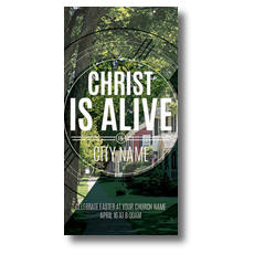 Christ Is Alive Suburban XLarge Postcard