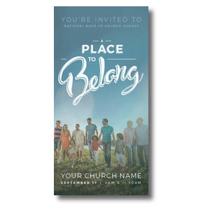"Back to Church Sunday: A Place to Belong 11"" x 5.5"" Oversized Postcards"