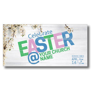 Easter At Flower Branch XLarge Postcards