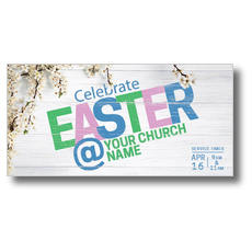 Easter At Flower Branch XLarge Postcard