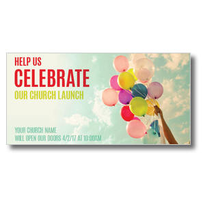 Balloons Celebrate Church Postcards