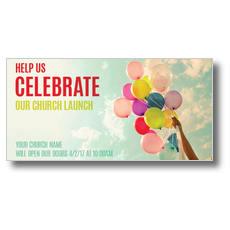 Balloons Celebrate XLarge Postcard
