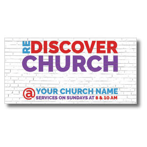 Brick Rediscover Church XLarge Postcards