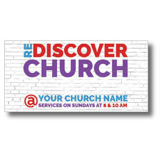 Brick Rediscover Church XLarge Postcard