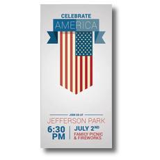 Celebrate America Flag XLarge Postcard