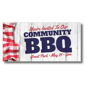 Community BBQ XLarge Postcards