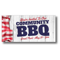 Community BBQ XLarge Postcard