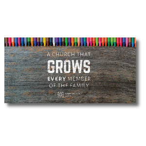 Crayons Church Postcards