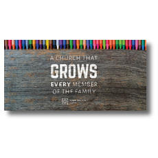 Crayons XLarge Postcard