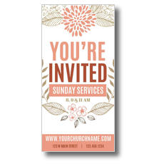 Flowers Invited XLarge Postcard
