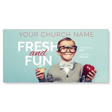Fresh and Fun XLarge Postcard