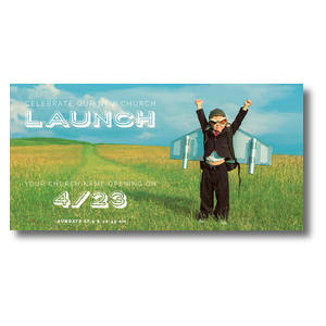 "Rocket Kid Launch 11"" x 5.5"" Oversized Postcards"
