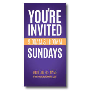 Youre Invited Purple XLarge Postcards