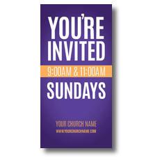Youre Invited Purple XLarge Postcard