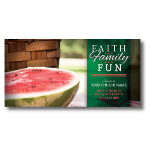 Faith Family Fun XLarge Postcards