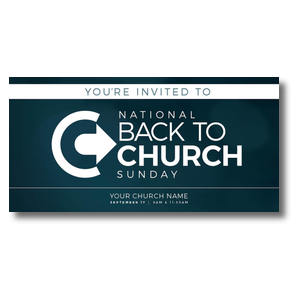 Back to Church Sunday Logo Church Postcards
