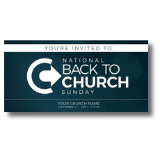 Back to Church Sunday Logo XLarge Postcard