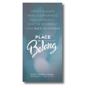 "Place to Belong Movement 11"" x 5.5"" Oversized Postcards"