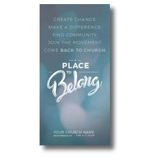 Place to Belong Movement XLarge Postcard