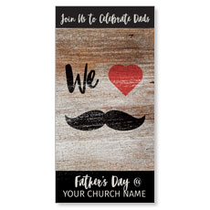 Fathers Day Mustache XLarge Postcard