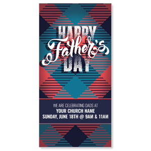 "Fathers Day Argyle 11"" x 5.5"" Oversized Postcards"