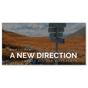 A New Direction XLarge Postcards